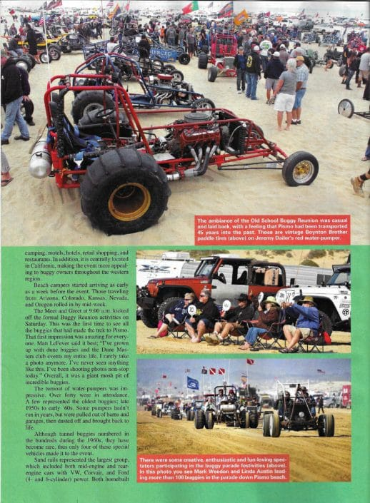 Sand Sport Magazine article about 2016 Old School Buggy Reunion
