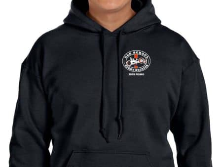 Unisex Black Hoodie with logo on front