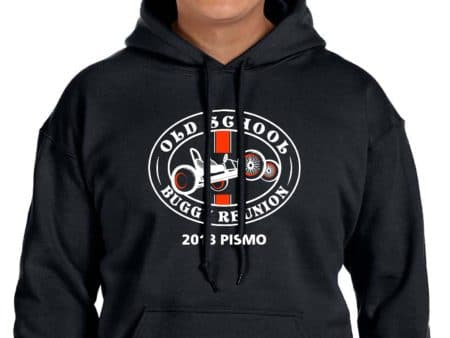 Unisex Black Hoodie with large logo on front